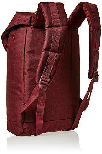 Herschel Supply Co. Retreat mid-volume Rucksack, Deep Lichen Green/Tan Synthetic Leather (grün) - 10329-00923-OS Winetasting Crosshatch/Tan Synthetic Leather