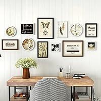 TING- 12 Marcos de fotos múltiples Set de estilo nórdico Sala de estar de madera