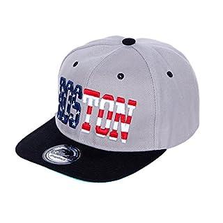 Alsino Snapback Originals Basecap Starter Hat Hip Hop Cap Schirmmütze Baseballcap Baseball Mütze Kappe (Cap-39 BOS grau schwarz)