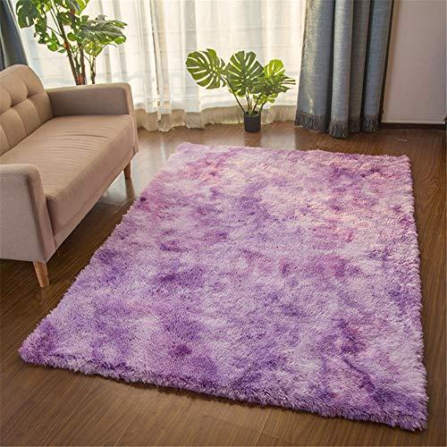Fleckige Batik-Farbverlauf Teppich Wohnzimmer Couchtisch Matte langes Haar waschbar voller Shop Schlafzimmer