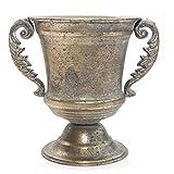 Exner Pokal Amphore Art Ferro Vase Metallvase Gold Messing Antik Metall Blumentopf Übertopf Vintage