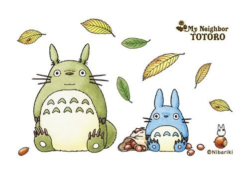 150-G12 season two leaves Totoro collage art series is a 150 piece mini puzzle (japan import)