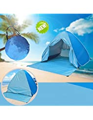 Tienda de Campaña,Pop up tent infantil de Playa Instantáneo Portátil Fácil Montaje Impermeable Anti UV 50+ para 2-3 personas Outdoor Azul
