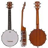 Kmise Banjo 4 Saitig Banjo Ukulele Uke Banjolele Konzert 23