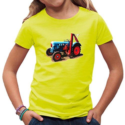 Traktoren Kinder T-Shirt - Oldtimer-Traktor: Eicher Oldtimer mit Mähwerk by Im-Shirt - Gelb Kinder 3-4 Jahre