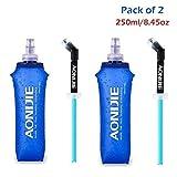 Doux d'hydratation Bouteille Gourde souple Bouteille de 250ml/500ml Compact et...