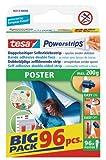 tesa Powerstrips POSTER / Doppelseitige Klebestreifen für Poster, Plakate und leichte Schilder bis 200g - wieder ablösbar und mehrfach verwendbar / Bigpack / 1 x 96 Stück