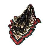 TianWlio Frauen Schals Frauen Neue Mode Dschungel Farbe Square Wrap Schal Damen Schal Schals