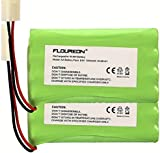 FLOUREON® 9.6V 1800mAh NI-MH Rechargable Battery Replace With RC Car Boat Truggy Truck Helicopter Quadcopter 8 Cell AA Battery Group With Tamiya Plug Remote Control Toy Lighting Gadgets Power Tool Safety Security Facility - 2Pack