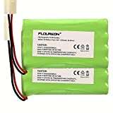 Picture Of FLOUREON 9.6V 1800mAh NI-MH 2X4AA Cell Battery Group with Tamiya Plug For RC Car Truck RC Hobby Lighting Gadgets Shavers Power Tools Vacuum Cleaner Safety Security Facilities (2Pack)