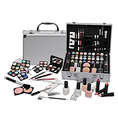 Ardisle 58 Piece Vanity Case Make Up Set Makeup Manicure Box Beauty Cosmetic Gift Xmas