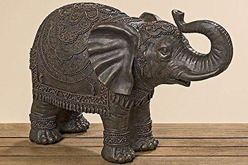 Elefant orientalisch indisch braun H30 L45cm aus Kunstharz