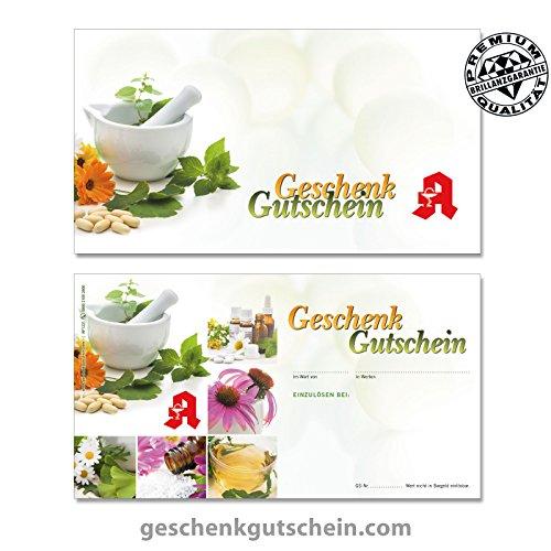 Hochwertige Gutscheinkarten Geschenkgutscheine für Ihr Unternehmen Vorderseite hochglänzend für deutsche Apotheken, Naturheilkunde AP1233, LIEFERZEIT 2 bis 4