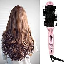 Cepillo de aire caliente 2 en 1, ajuste por pliegue, mini alisador de pelo