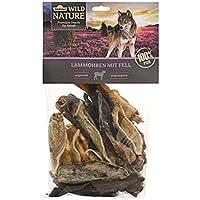 Dehner Wild Nature Perros Snack oídos con Piel de Cordero, Natural, 200g