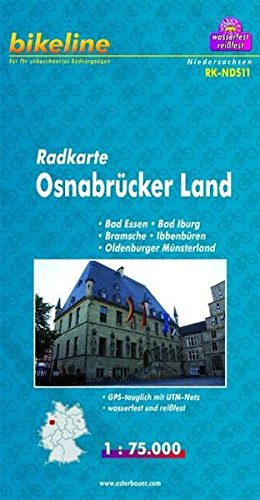 Bikeline Radkarte Osnabrücker Land 1 : 75 000, wasserfest und reißfest, GPS-tauglich mit UTM-Netz