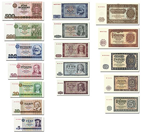 DDR Geldscheine 3 Sätze 1955 bis 71, TOP Reproduktion