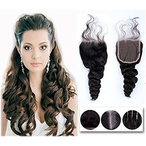 Helene Hair Brazilian Virgin Hair Human Hair Loose Wave Top Lace Closure (4