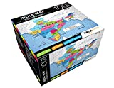 Pola Puzzles Map of India Tiling Puzzles 100 Pieces for Kids Age 5 Years and Above Multi Color Size 36CM X 34CM Jigsaw Puzzles for Kids