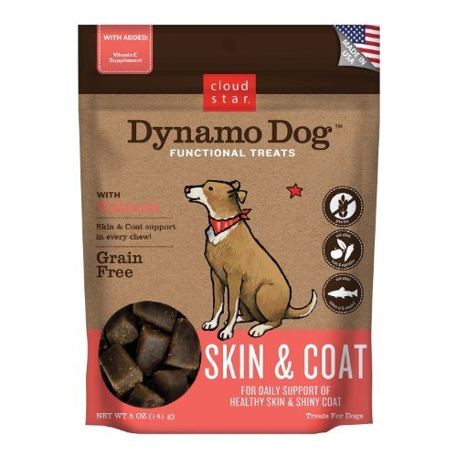 Cloud Star Dynamo Dog Skin and Coat Functional Treat Pouches, Salmon, 5-Ounce by Cloud Star Corporation (English Manual) -