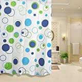 Shower Curtain - Stylish Living Elegant Mildew Resistant Water-Resistant PEVA Bathroom Shower Curtain Liner With Hooks Great For Home, Hotel, Travel, Kid's Bathroom - Bathroom Accessories By KARP - (Size: 180 Cm X 200 Cm)
