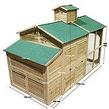 Weißes Hühnerhaus Freilauf Holz Cottage-Style Hühnerstall Käfig Auslauf - 3