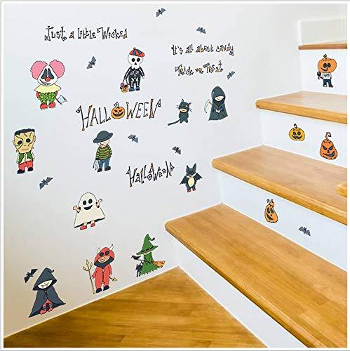 MOXILI Wandaufkleber Selbstklebend, Große Tv-Hintergrundwand, Wohnzimmer, Schlafzimmer, Küche, DIY-Aufkleber, Niedlicher Halloween-Aufkleber Für Bild Der Kinder Hd