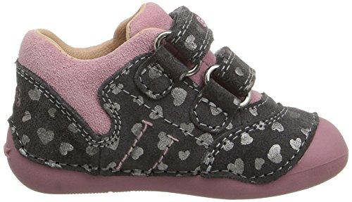 Geox B Tutim C, Chaussures de Naissance Bébé Fille Grau (DK GREY/DK PINKC1377)