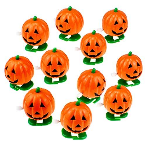 Amosfun 10 Stück Aufzieh-Spielzeug Uhrwerk Wachen Lächeln Gesicht Kürbis-Spielzeug Urlaub Halloween Kinder Erwachsene Party Geschenke