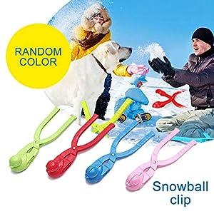 Ablerfly Kinder Schneeballhersteller, Cartoon Ente Schnee Winter Outdoor Spielzeug Schnee Ball Clip Schnee Spiele Für Kinder (Gelegentliche Farbe)