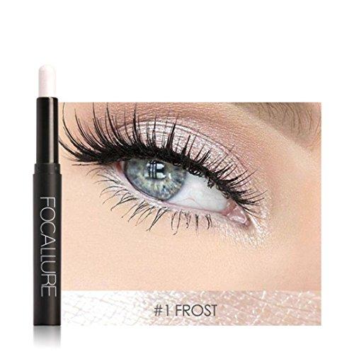 12 Farben Perle Glänzend Lidschatten Stift,Matt Wasserfest Long-Lasting Lidschatten Palette Eyeshadow Pencil Concealer Highlight...