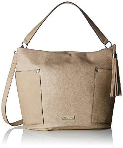 Print Hobo Bag Handtasche (Tamaris Damen Edna Hobo Bag Schultertasche, Beige (Pepper Comb), 32x17,5x33 cm)