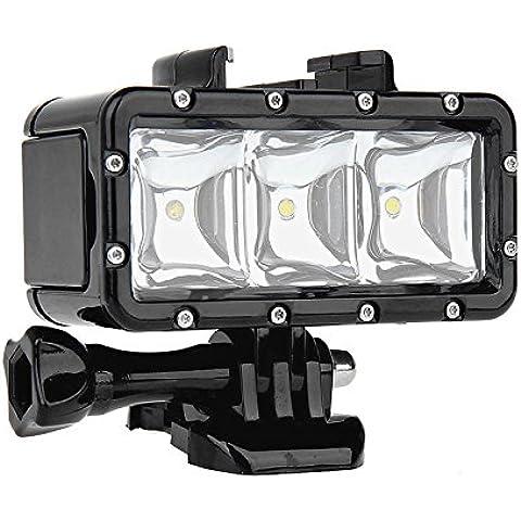 SHOOT impermeable Luz de buceo alta potencia regulable LED sumergible buceo luz para GoPro Hero 5/4/3+/3/2/SJCAM SJ4000/SJ5000/Xiaomi yi con carga 1200 mAh batería recargable integrada