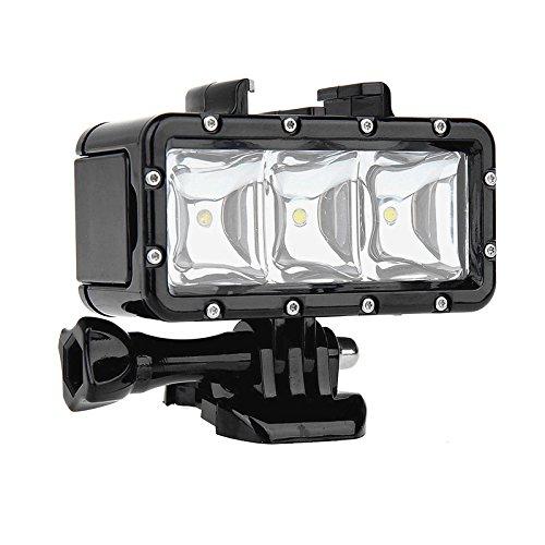 SHOOT impermeable Buceo Luz de alta potencia regulable LED sumergible Luz para GoPro Hero 5/4/3 +/3/2/SJCAM SJ4000/SJ5000/Xiaomi yi con carga 1200 mAh batería recargable integrada
