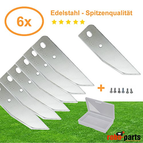 6 Stück Ersatzmesser Edelstahl für AL-KO Robolinho 100, 3000, 4000 Mähroboter