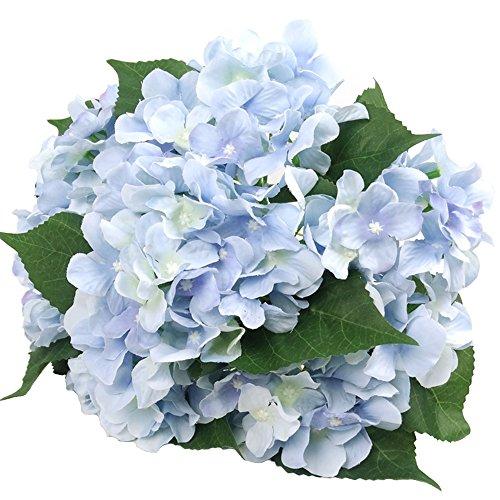 """Künstliche Seiden-Blumen von Efivs Arts, 45 cm, 7 Stiele mit großenBlütenköpfen """"Hortensien"""", Blumenstrauß für Hochzeiten, Hotelzimmer oder Zuhause, Dekoration für Partys blau"""