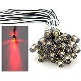 10x LED Lichtpunkt Sternenhimmel Aluminium IP68 Wasserdicht Verbrauch 0,2 Watt pro Lichtpunkt dimmbar Einbau Spot Schraube Licht Punkt Deckenleuchte Deko Lichtfarbe : Rot