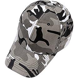 Leisial Gorra de Béisbol del Camuflaje Hip Hop Sombrero Sol Deporte al Aire Libre Verano Unisex Ajustable