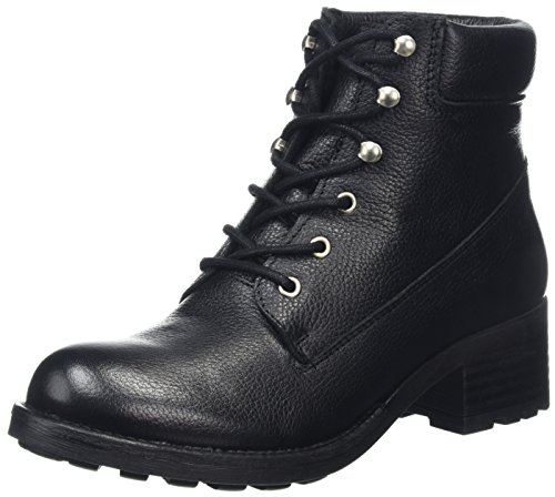 Shoe Biz Damen Frederike Biker Boots Schwarz (Old Blues Black)