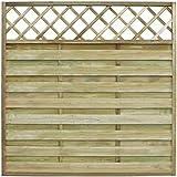 vidaXL Panel cuadrado de valla para jardín 180 x cm Madera