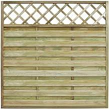 vidaxl panel cuadrado de valla para jardn x cm madera