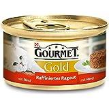 Gourmet Gold Raffiniertes Ragout Rind, 12er Pack (12 x 85 g) Dosen