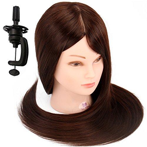 """Neverland 22"""" 30% Vrais Cheveux coiffure Têtes d'exercice Coiffure Mannequin Tête À Coiffer Coiffure Femme"""