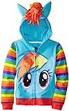 My Little Pony Rainbow Dash Blau Mädchens Kostüm Hoodie Sweatshirt (Mädchens 5/6)