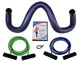AktiFlex® Schulterhilfe® Optima Comfort-Set Schultertrainer gegen Schulterschmerzen und schlechter Haltung (Blau, 3. Standard -L-)