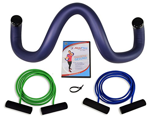 AktiFlex® Schulterhilfe® Optima Comfort-Set Schultertrainer gegen Schulterschmerzen und schlechter Haltung (Blau, 1. Standard -S-)