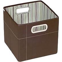 JJ Cole Storage Box Tall (cocoa Stripe)