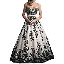 a447ae980fd32e Ebelz Frau New Style Zug Aufnäher Schwarz Blumen Hochzeit Kleider