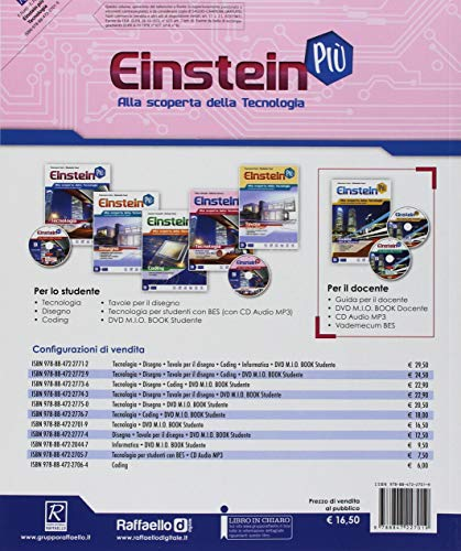 Einstein più. Tecnologia. Per la Scuola media. Con 4 Libri: Disegno-Tavole-Coding-Informatica. Con e-book. Con espansione online