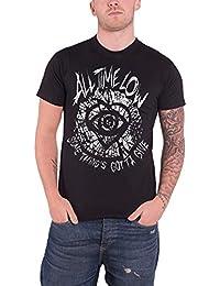 All Time Low Homme T Shirt Noir Classic Shatter band logo officiel